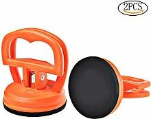 Glas Saugheber, Wowot Dent Abzieher Orange Glas Saugnapf Mini, 2 Stück Dent Puller Reparatur Abzieher Werkzeuge