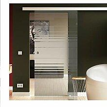Glas Schiebetür 900x2050 mm Dessin. Horizont (H)