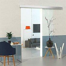 Glas-Schiebetür Set mit Softclose Klar 2050mm x