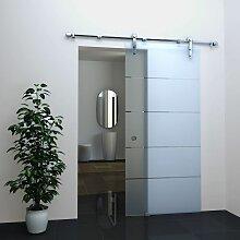 Glas-Schiebetür STRIPES in 90 x 205 cm