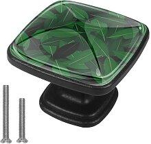 Glas-Schrankknauf, quadratisch, mit Schrauben,