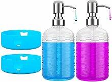 Glas-Seifenspender-Flaschen mit rutschfestem