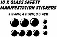 Glas Sicherheitsmarkierung Wintergarten Glas Fenster Aufkleber Aufkleber beige