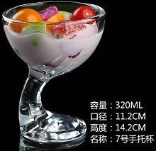Glas-soleditm Eis Dessert Becher Milch und Saft Milkshake mit Eiscreme-Schale Salat Glas Becher