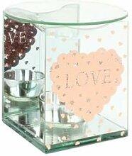 Glas & Spiegel Ölbrenner–Love Herz–Pink