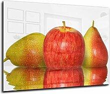Glas-Spritzschutz Äpfel mit hochwertiger