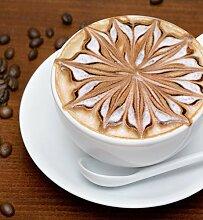 Glas-Spritzschutz Coffee mit HD-Grafik in