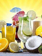 Glas Spritzschutz Getränke mit HD-Grafik in