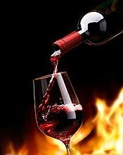 Glas Spritzschutz Weinglas Feuer mit hochwertiger