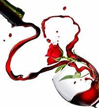 Glas Spritzschutz Weinglas Rose mit hochwertiger