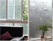 Glas Statische Fensterfolie durchscheinend Aufkleber dreidimensionale Türen und Fenster Deko nicht geeignet für blockierender Sichtschutz, 60CM*200CM