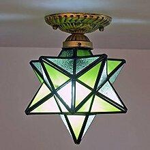Glas Sterne Deckenleuchte Tiffany Stil