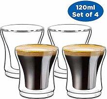Glas Tasse-Doppelwandige Cappuccino Latte