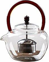 Glas Teebereiter Teekanne Glas Glas Dampf Teekanne