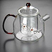 Glas Teebereiter Teekanne Glas Glas Teekanne Blase
