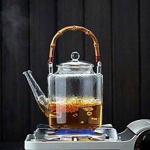 Glas Teebereiter Teekanne Glas Glasblume Teekanne