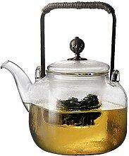 Glas Teebereiter Teekanne Glas Kochender