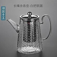 Glas Teebereiter Teekanne Glas Starke Kochende
