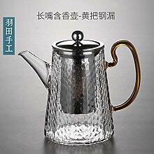 Glas Teebereiter Teekanne Glas Verdicktes Glas