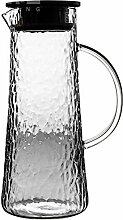 Glas Teekanne 1,5 L/Liter Wasserkaraffe aus