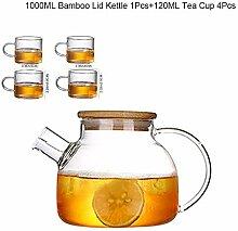 Glas Teekanne 1L Teekanne Mit Großem