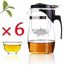 Glas Teekanne 7Pcs/Set Hitzebeständige Glas