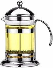 Glas Teekanne Edelstahl French Press Kaffeekanne