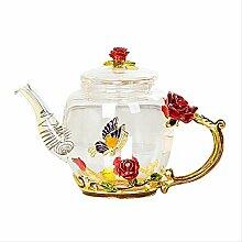 Glas-Teekanne für heiße und kalte Getränke, 350