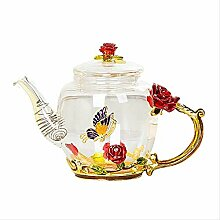 Glas-Teekanne für heiße und kalte Getränke,
