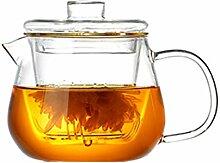 Glas-Teekanne für Herd geeignet, klare Teekannen
