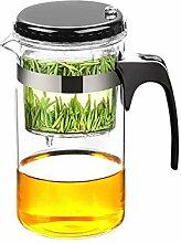 Glas-Teekanne für losen Tee, klare Teekannen mit