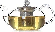 Glas-Teekanne für losen Tee, transparente