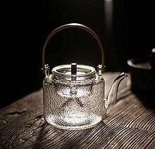 Glas Teekanne Glas Teekanne mit Bambusgriff