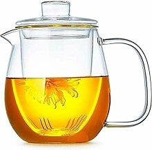 Glas-Teekanne Glasdeckel Eis-Teekanne leicht zu