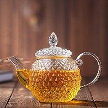 Glas-Teekanne Glaskaraffe mit edler Figur für