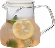 Glas-Teekanne, Glaskrug mit Edelstahl-Sieb, 700