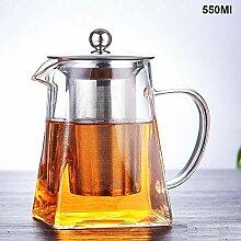 Glas Teekanne Hitzebeständige Glas Teekanne Mit