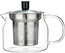 Glas-Teekanne mit Edelstahl-Teesieb, sicherer