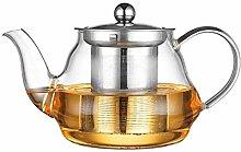 Glas-Teekanne mit großem Fassungsvermögen,