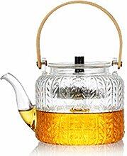 Glas-Teekanne mit herausnehmbarem Teesieb für