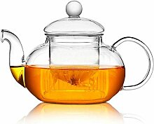 Glas-Teekanne mit herausnehmbarem Teesieb,
