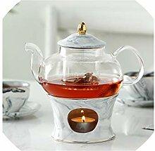 Glas Teekanne mit Keramik Teekanne Basis Kreative