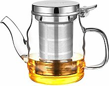 Glas-Teekanne mit Schwanenhals-Wasserkocher,