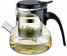 Glas-Teekanne mit Sieb, Teekanne für den Herd,