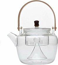 Glas-Teekanne mit Teesieb, BPA-frei, langlebiges