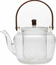 Glas-Teekanne mit Teesieb, Teekanne, BPA-frei,