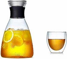 Glas Teekanne Teekanne Glasbecher mit Deckel