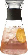 Glas Teekanne Teekanne Glaskanne mit Deckel 1200ml