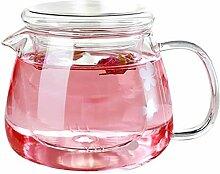 Glas Teekanne Teekanne Glaskrug mit Deckel 500ml