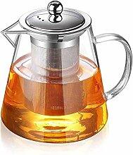 Glas Teekanne Teekanne Hitzebeständige Glas